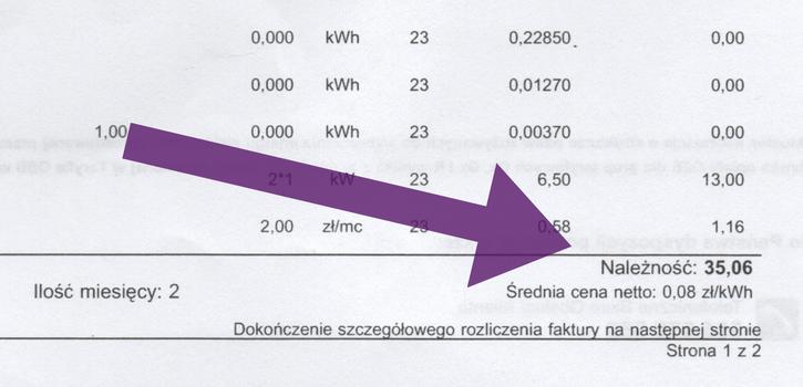 rachunek za prąd z fotowoltaiką
